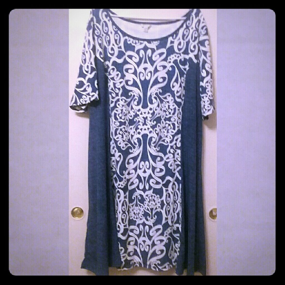 d5caac8c89f Cato Dresses   Skirts - Cato Dress Puff Scroll Print Womens 26 28 Plus